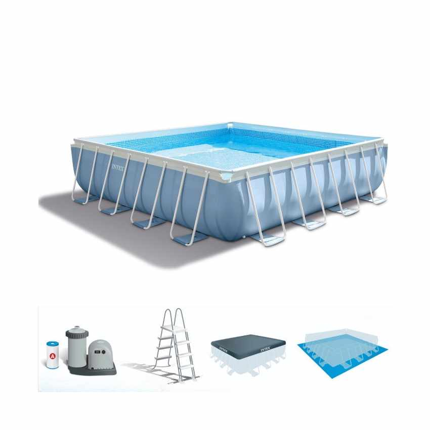 Intex 28766 Piscina fuori terra Prism Frame quadrata 488x488 - photo