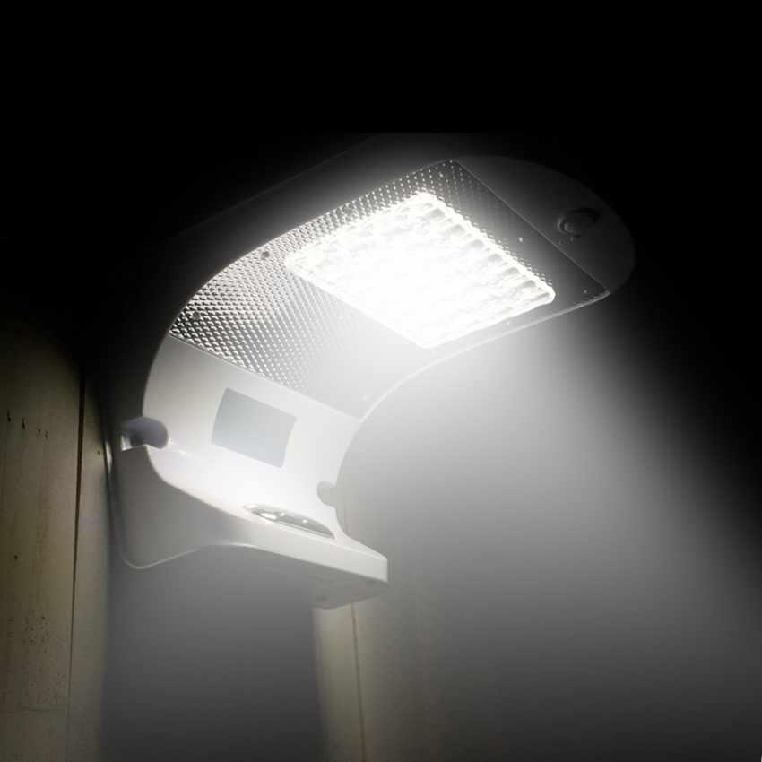 Lampada a Muro Solare per Giardino Esterni 28 LED Sensore Movimento REFLEX - dettaglio