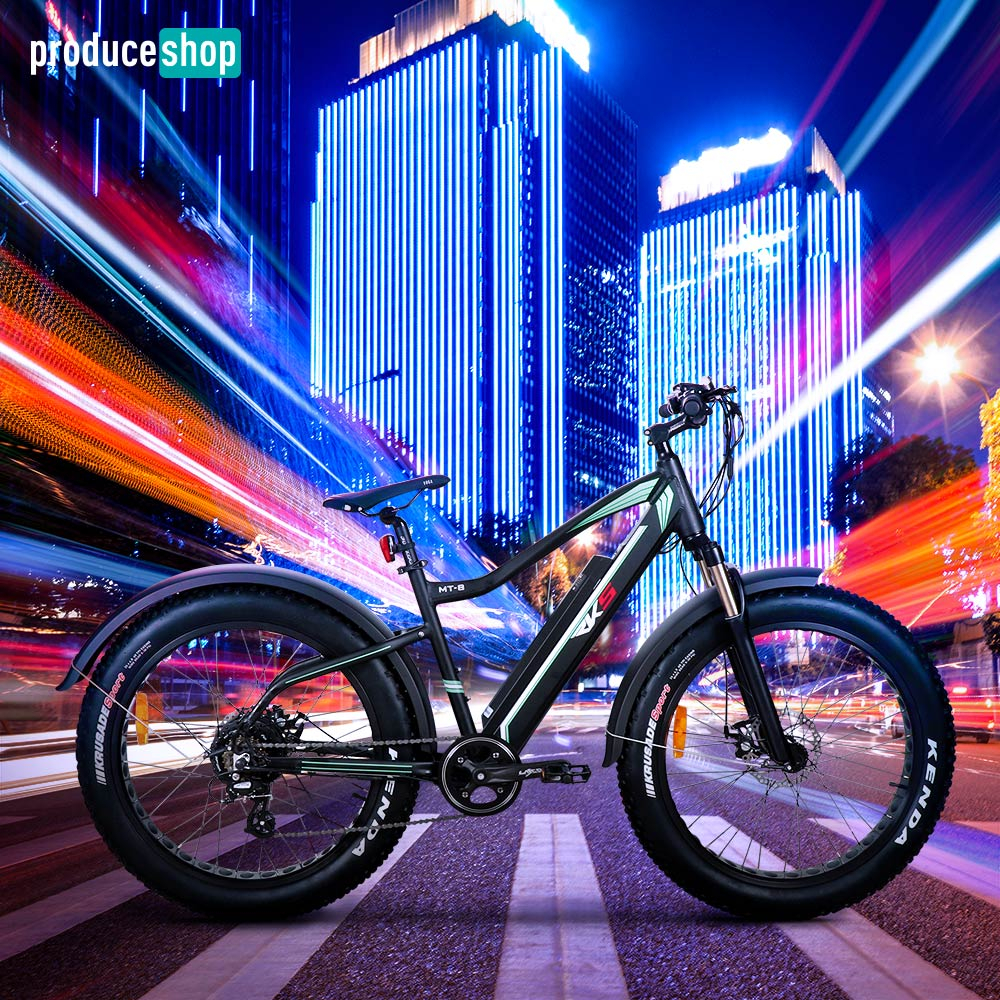 Bicicletta Elettrica Fatbike MTB 250W MT8 Shimano