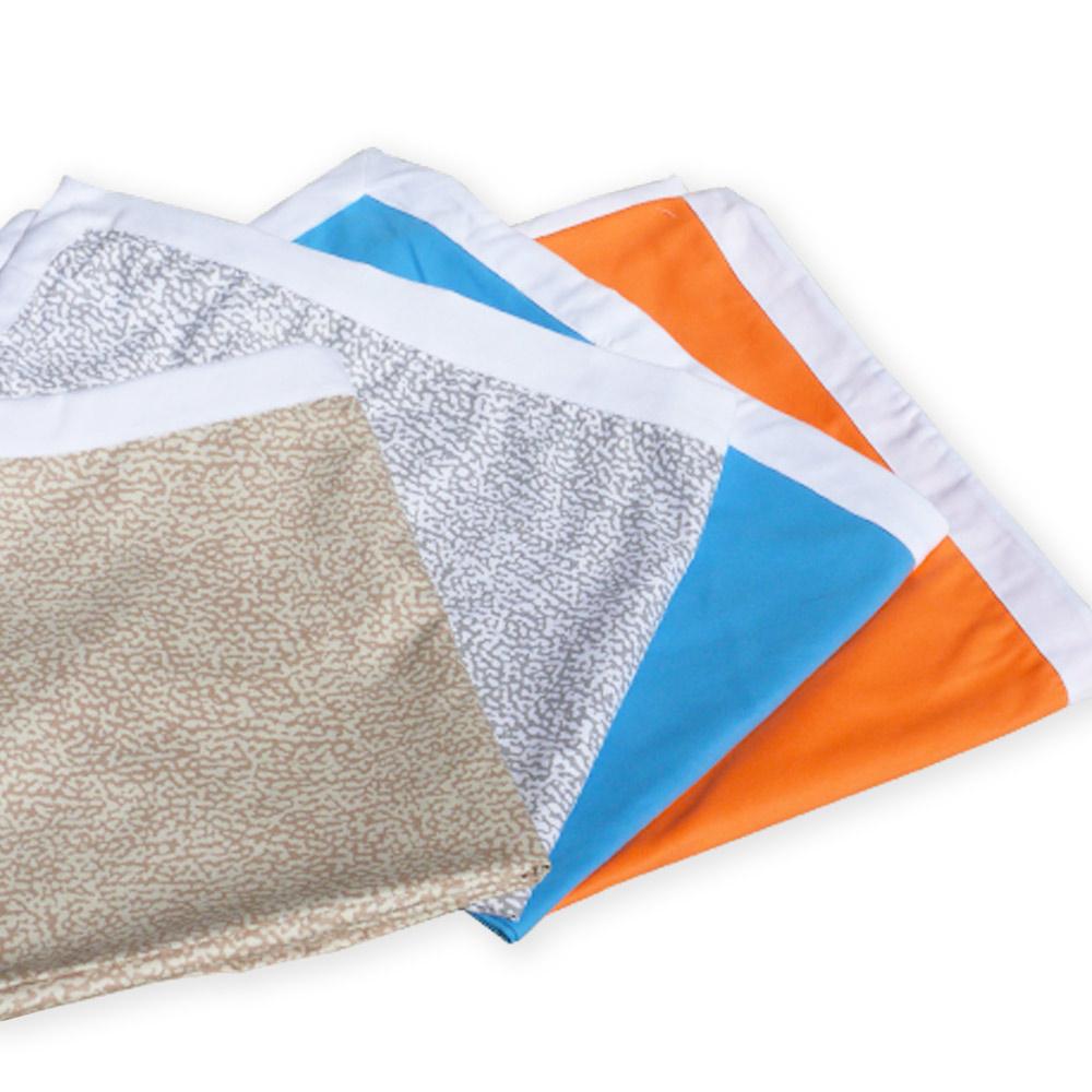 Teli mare microfibra lettino colorati tasche asciugamani spiaggia 4 pezzi - Bild