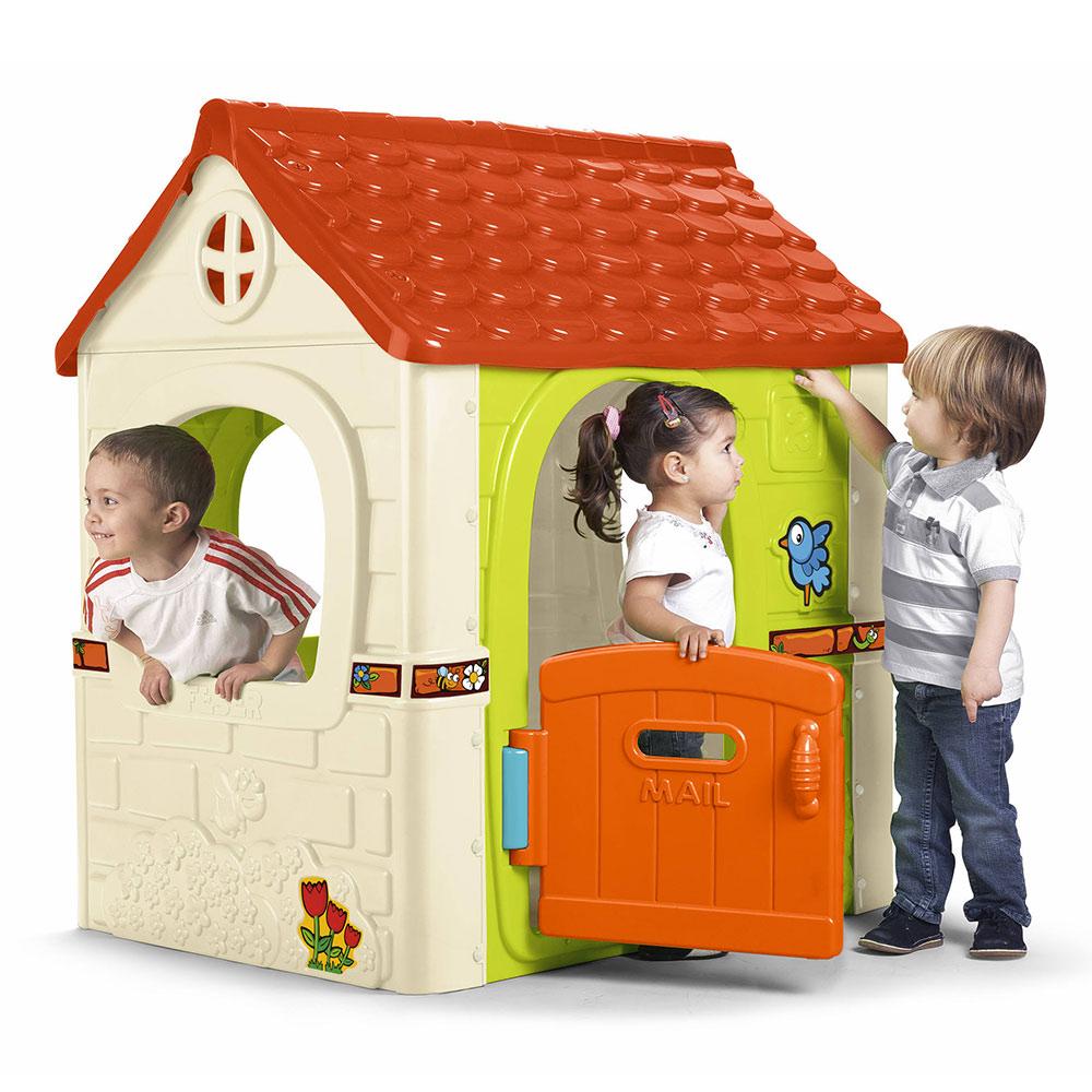Casetta Gioco Di Plastica Per Bambini Giardino Fantasy House Feber