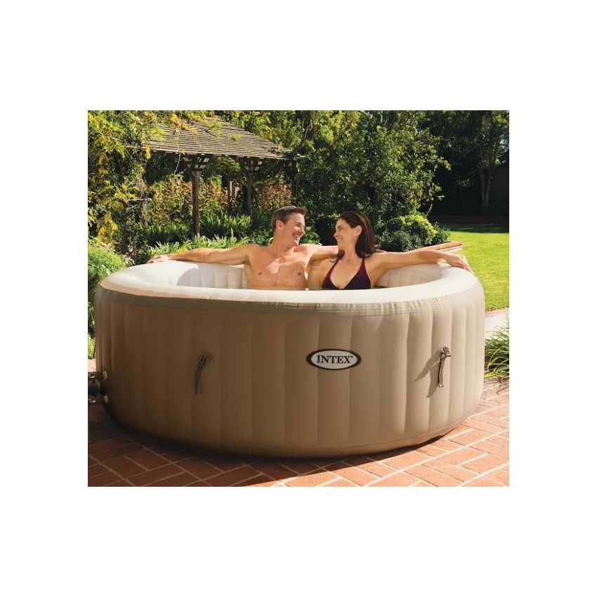 Idromassaggio gonfiabile Intex 28404 Bubble spa rotonda 196x71 - outdoor