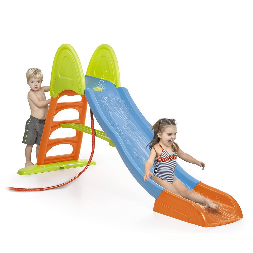 Scivolo per bambini da giardino in plastica con acqua Super Mega Slide Feber