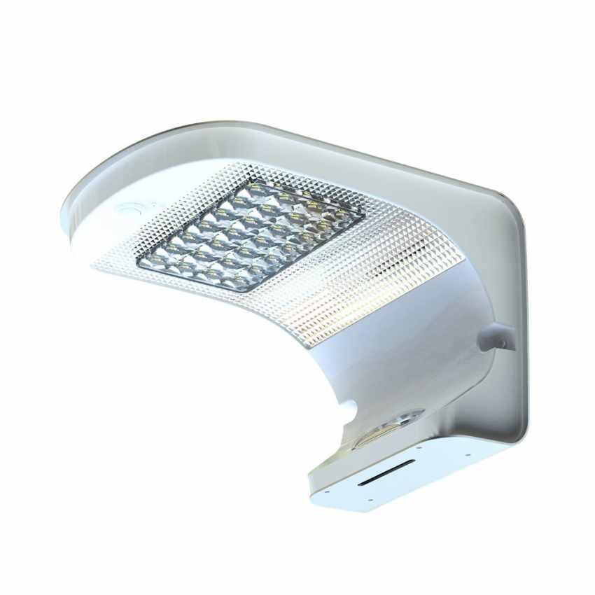 Lampada a Muro Solare per Giardino Esterni 28 LED Sensore Movimento REFLEX - vendita