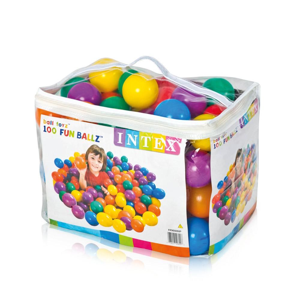 49600 - Palline colorate plastica gioco Intex 49600 Fun Balls 8 cm set 100 pezzi -