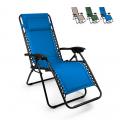 Sedia sdraio per spiaggia e giardino pieghevole multiposizione Emily PUMP Zero Gravity