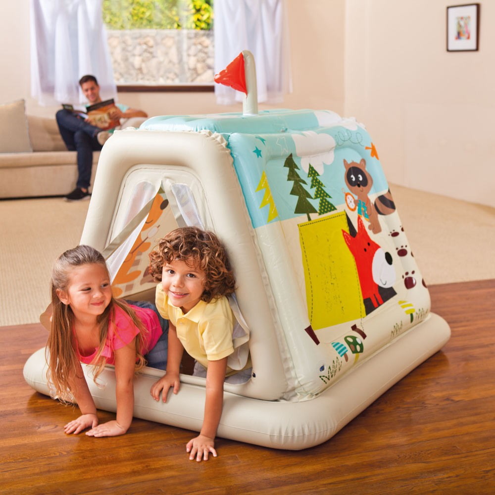 Casetta tenda gonfiabile bambini Intex 48634 casa giardino - indoor