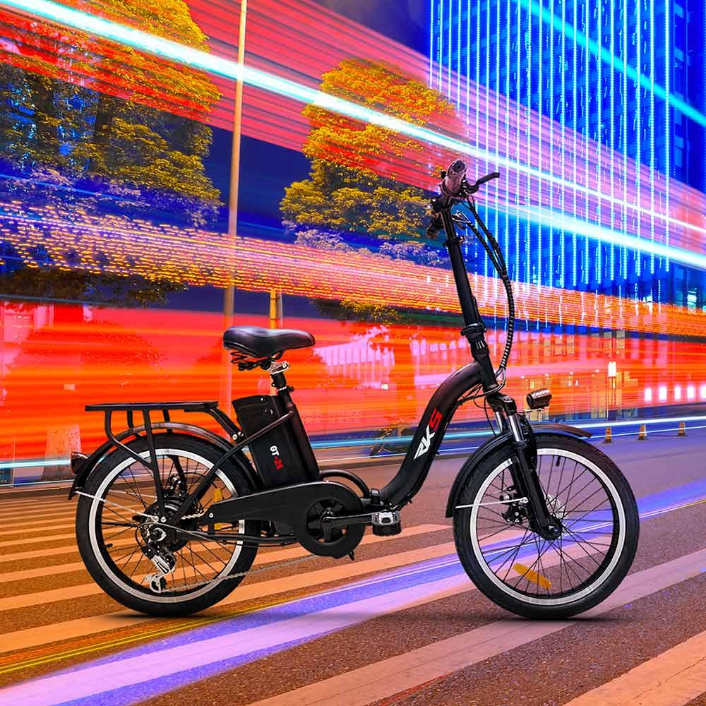 miniatura 12 - Bici bicicletta elettrica ebike pieghevole Shimano RKS GT 25