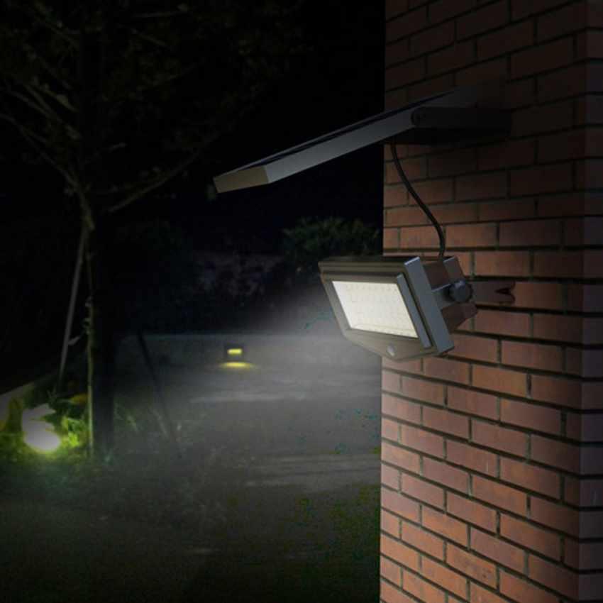 Faro a Muro LED a Energia Solare con Sensore Movimento FLEXIBLE NEW - immagine