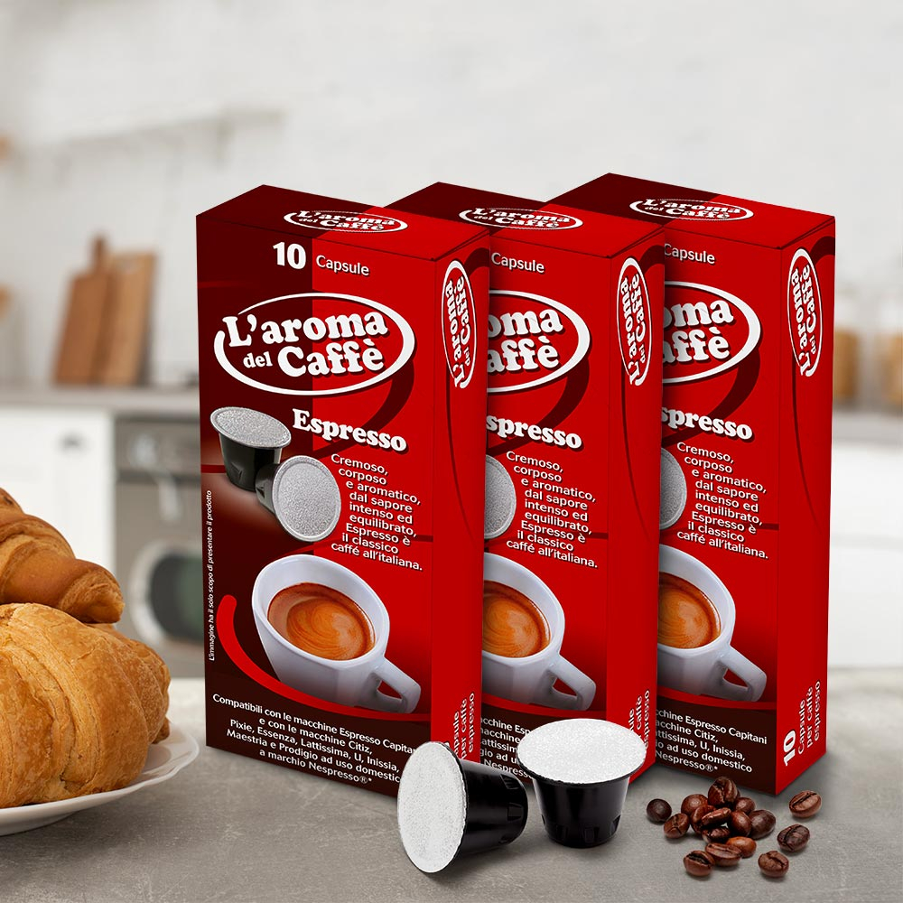 120 Capsule caffè compatibili nespresso miscela ESPRESSO - best