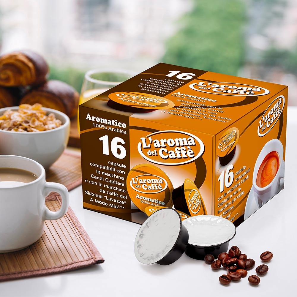 128 Capsule caffè compatibili a modo mio AROMATICO 100% arabica - new