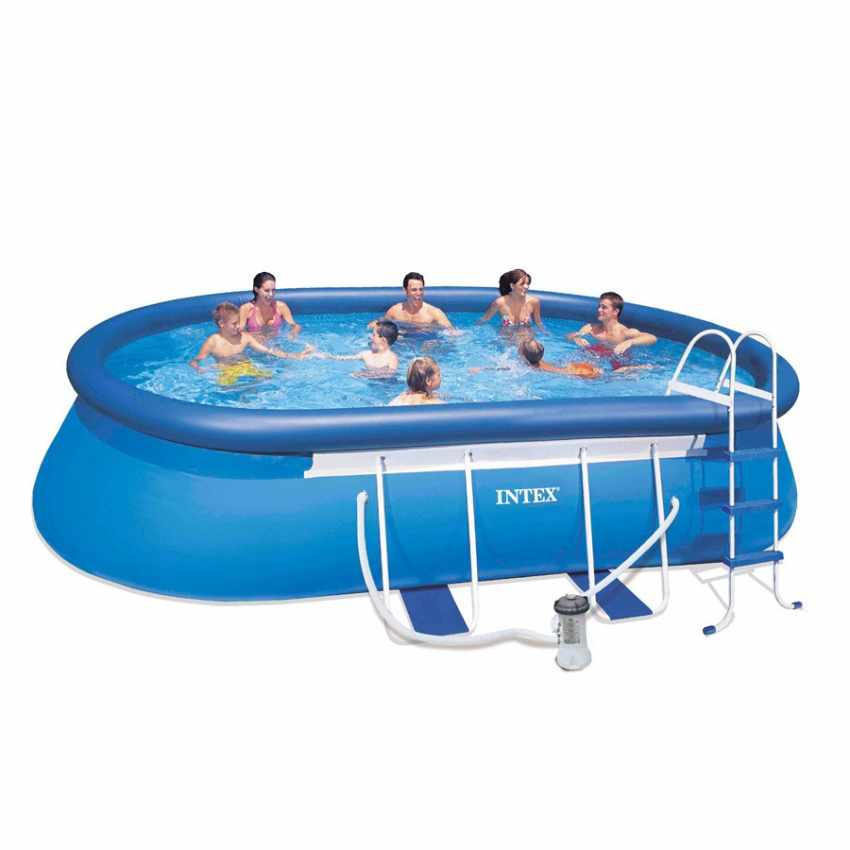 Above Ground Frame Pool Intex 26192 Former 28192 Oval Frame 549x305x107 - forniture