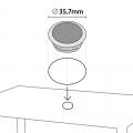 12 Tavoli Poly rattan rettangolari 150x90 Grand Soleil BOHEME - forniture