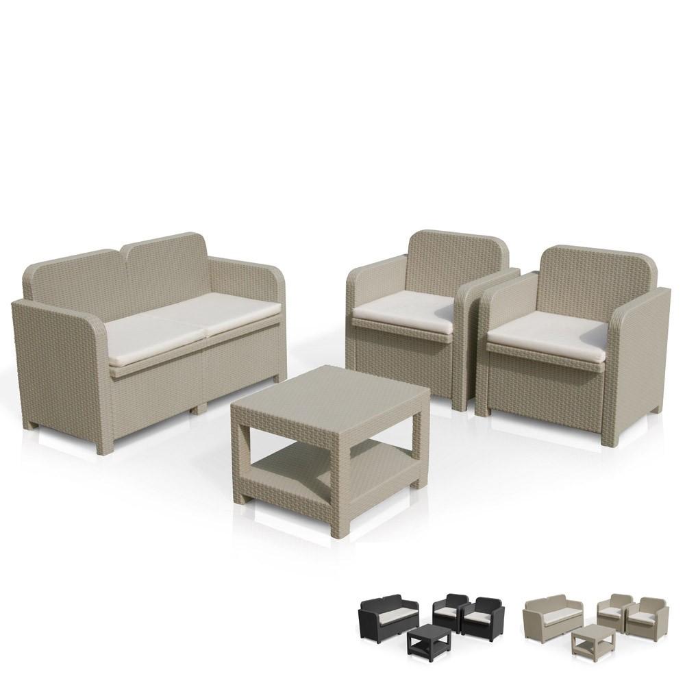 salon de jardin grand soleil sorrento rotin table. Black Bedroom Furniture Sets. Home Design Ideas
