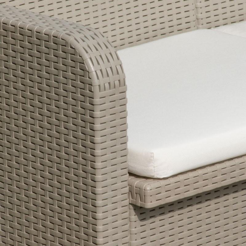 Détails sur Salon de jardin Grand Soleil SORRENTO rotin table fauteuils  exterieur 4 places