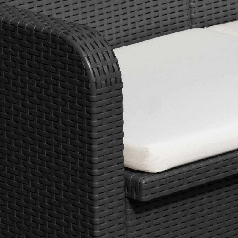 Détails sur Salon de jardin Grand Soleil SORRENTO en Poly rotin table basse  fauteuils pour e