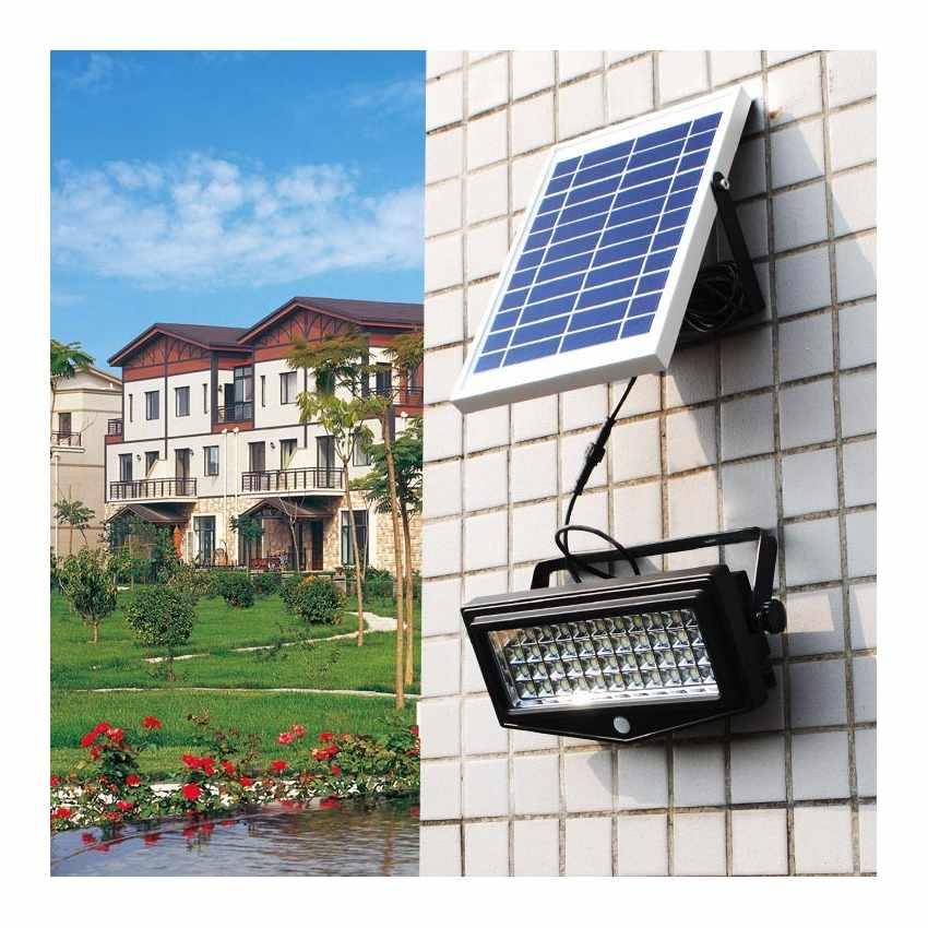 Lampe solaire jardin LED lumière mur extérieurs FLEXIBLE NEW - scontato