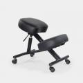 Sedia ortopedica sgabello svedese metallo ergonomica similpelle Balance Lux