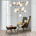 Poltrona Sedia Design Moderno Patchwork con Pouf Poggiapiedi PATCHY PLUS - price