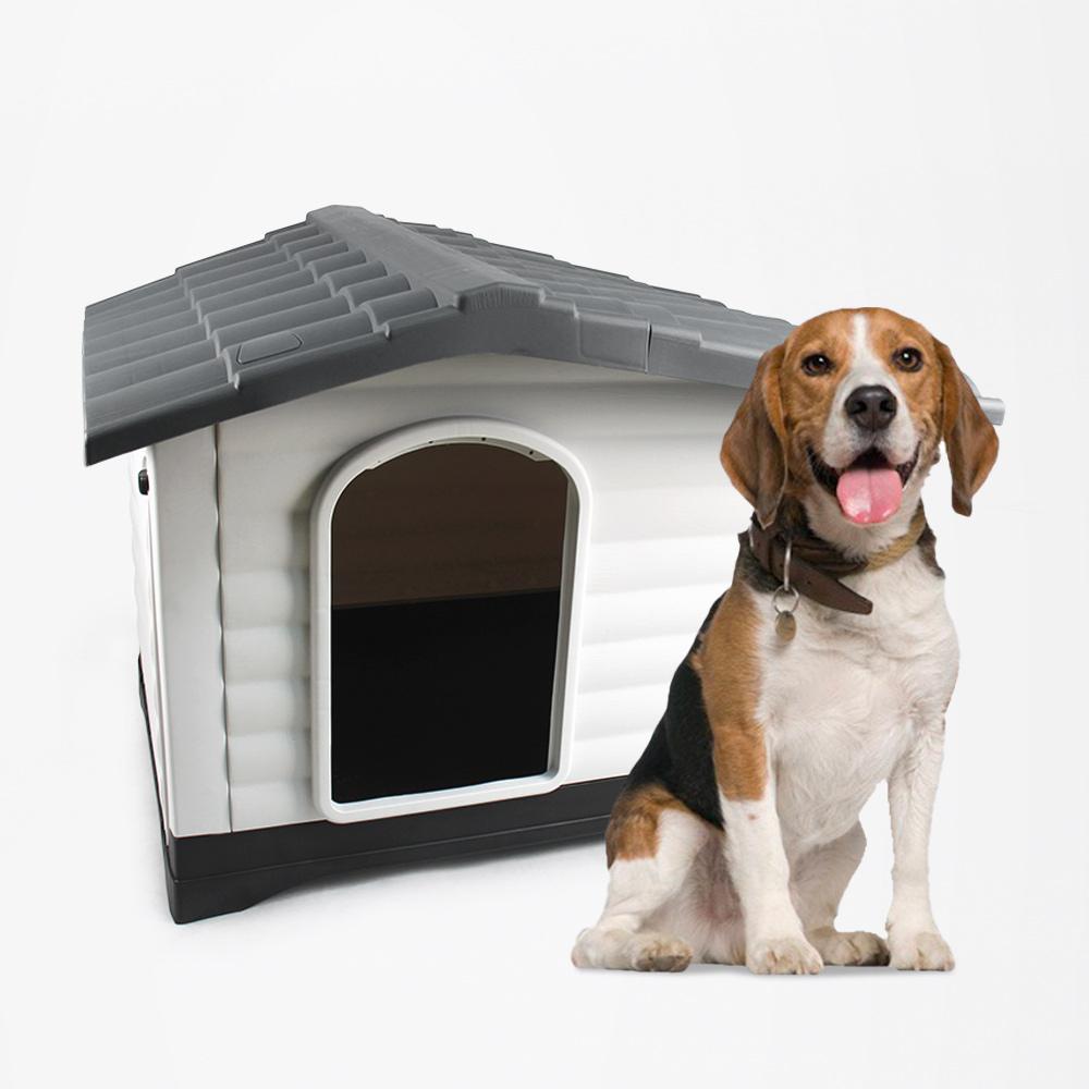 Cuccia giardino per cani taglia media grande in plastica pedana Bijoux