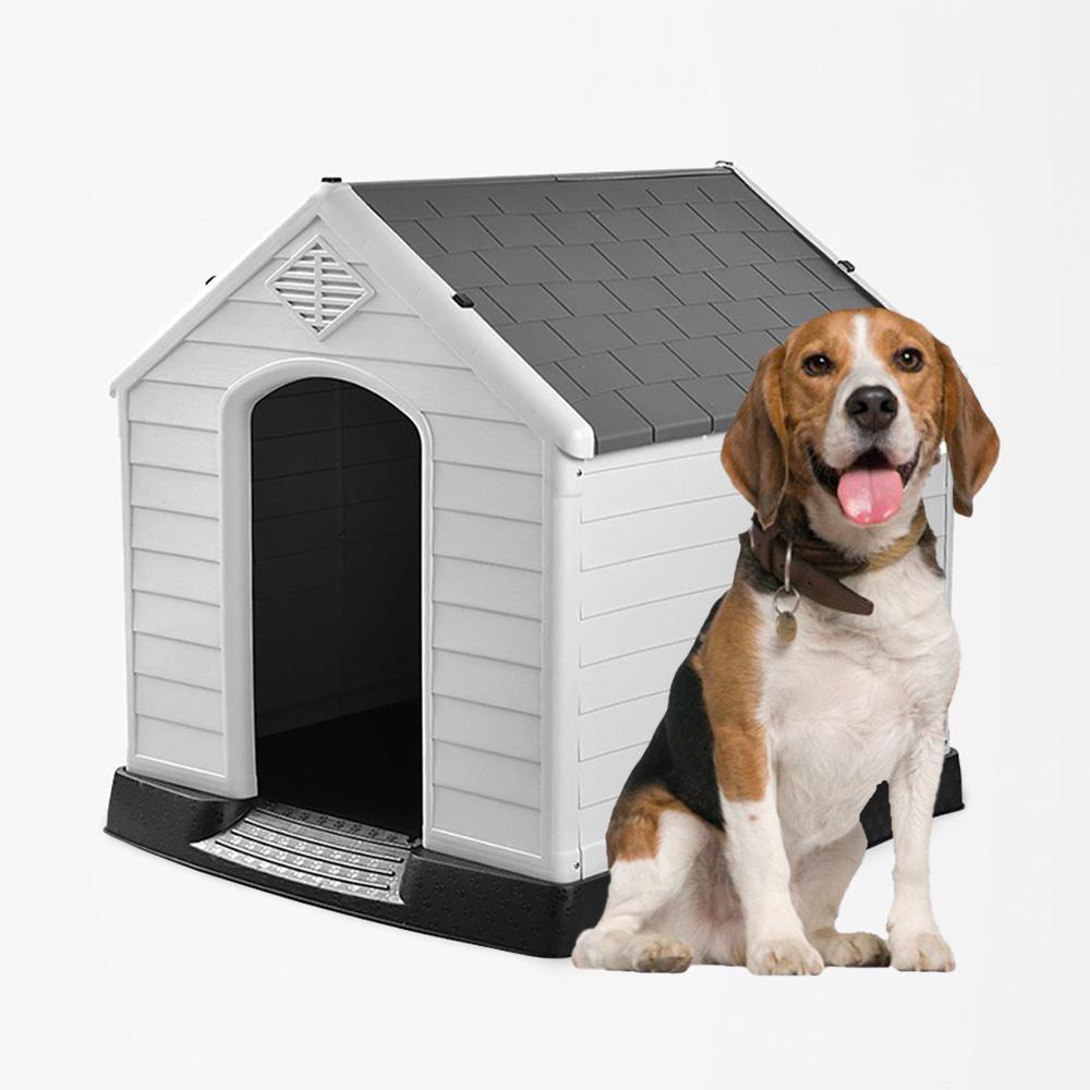 Cuccia per cani di taglia media in plastica esterno interno RUBY - details