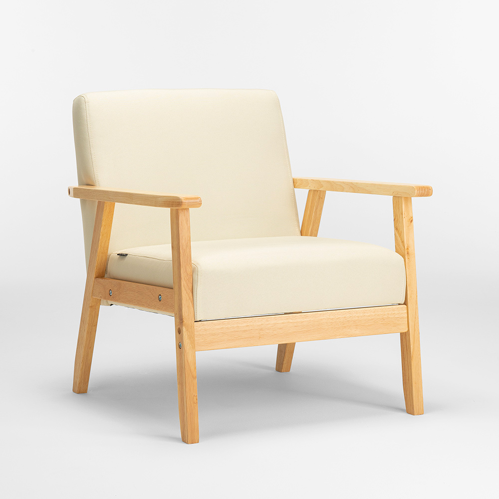 Poltrona sedia in legno design vintage scandinavo con ...