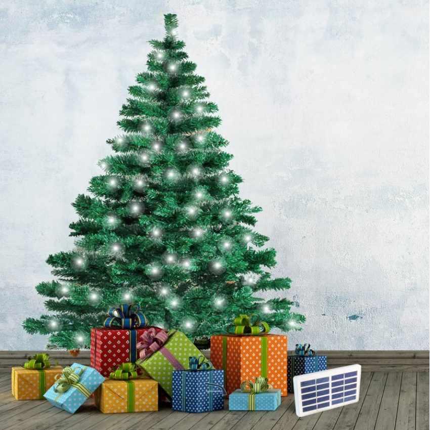 Künstlicher Weihnachtsbaum Outdoor.Künstlicher Weihnachtsbaum Cortina 180 Cm Mit Solar Led Beleuchtung