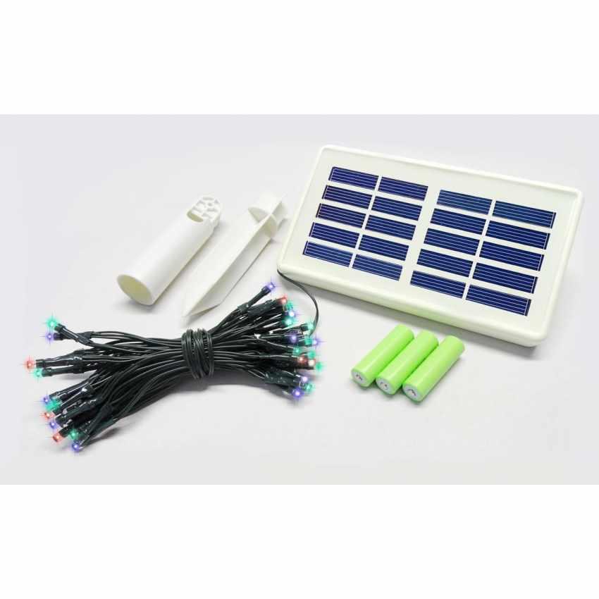 Luci di Natale esterno led energia solare batteria lunga durata pannello 100 led albero balcone - best