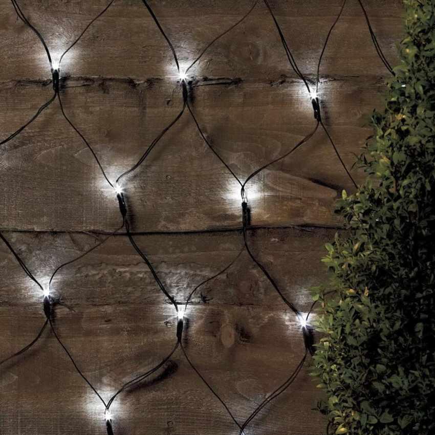 Weihnachtsbeleuchtung Led Batterie.Solarmodul Weihnachtsbeleuchtung Outdoor Dekorationsnetz 50 Led Longlife Batterie