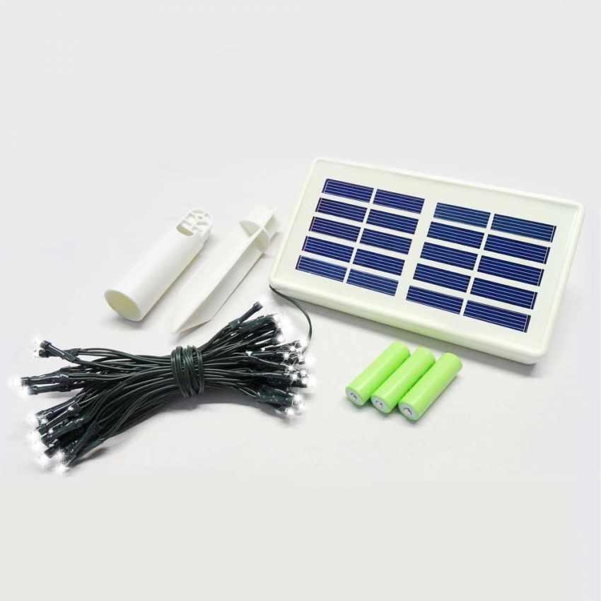 Rete luci di Natale esterno decorativa 50 led energia solare batteria lunga durata pannello - forniture