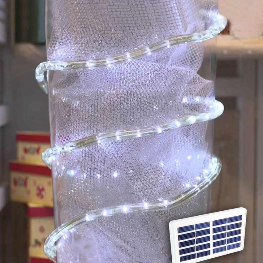 Led Weihnachtsbeleuchtung Laser.Solarmodul Led Lichtschlauch Outdoor Weihnachtsbeleuchtung Außen