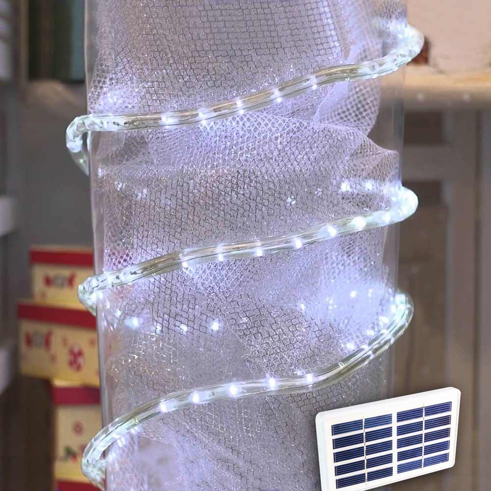TU050 - Tubo luminoso luci Natale esterno led energia solare -