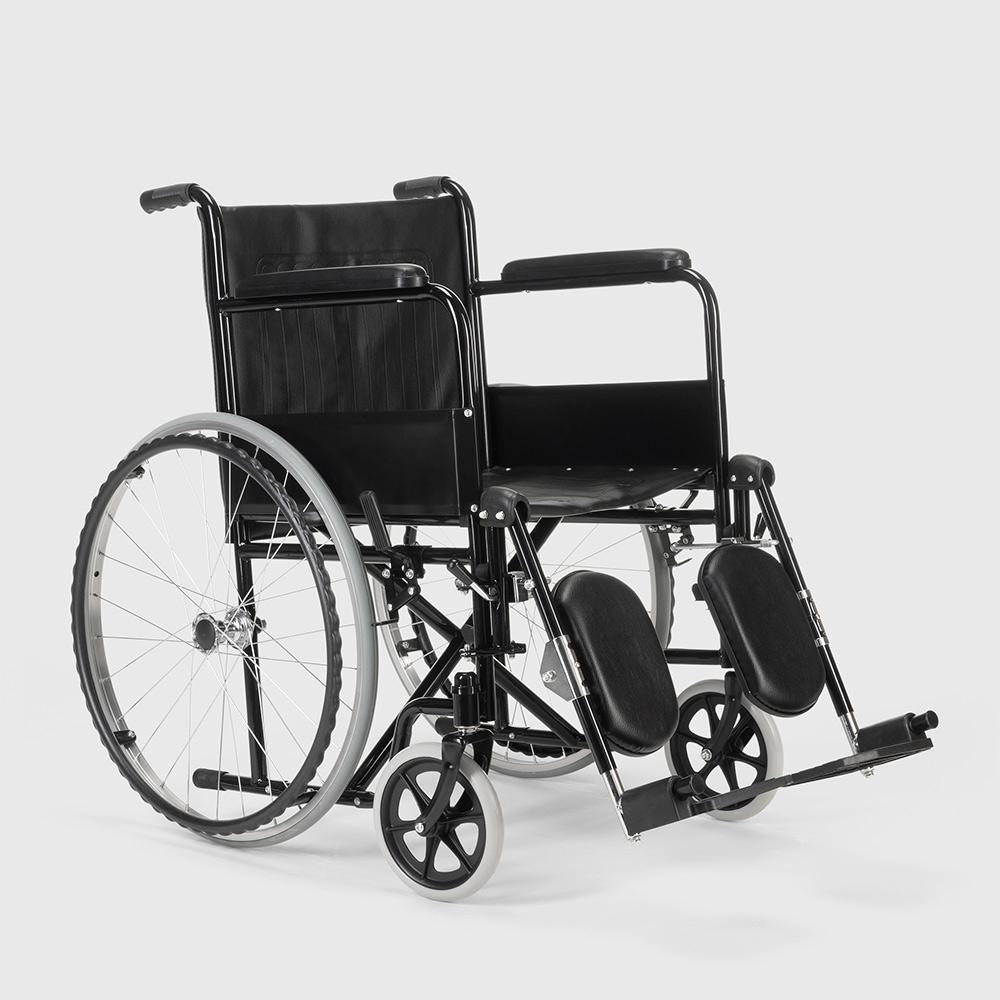 miniatura 35 - Sedia a Rotelle carrozzina con supporto alza gambe pieghevole disabili e anziani