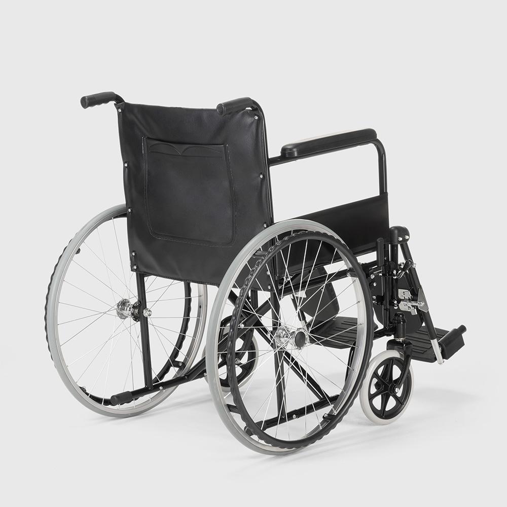 miniatura 36 - Sedia a Rotelle carrozzina con supporto alza gambe pieghevole disabili e anziani