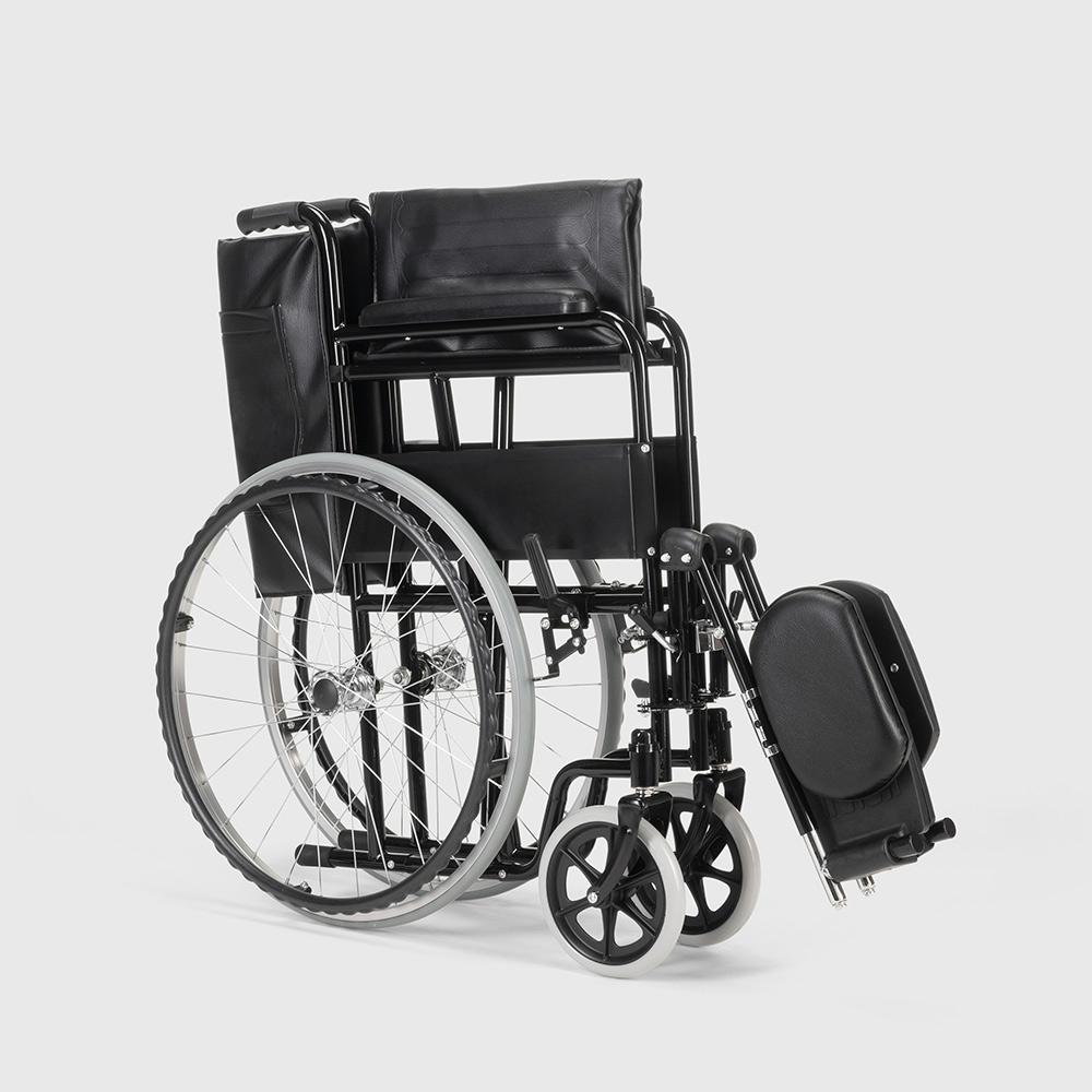miniatura 37 - Sedia a Rotelle carrozzina con supporto alza gambe pieghevole disabili e anziani