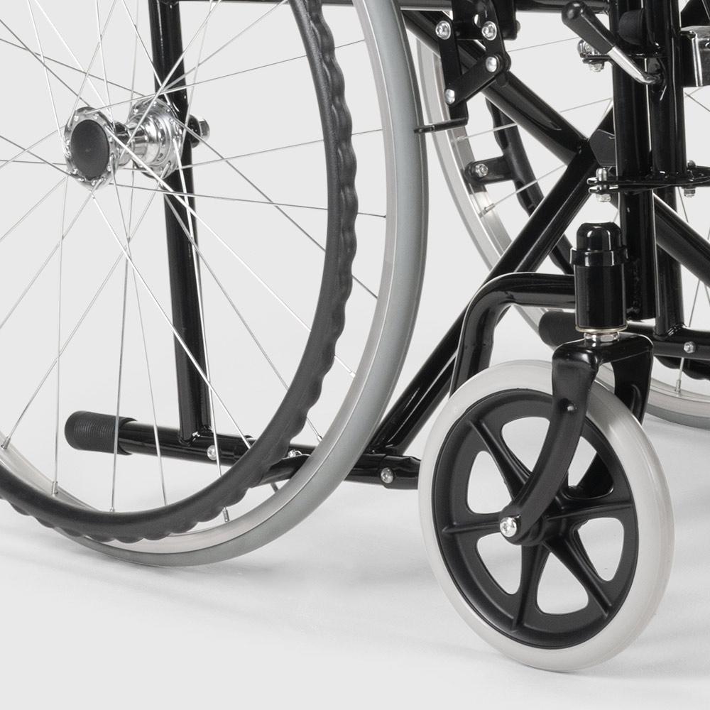 miniatura 39 - Sedia a Rotelle carrozzina con supporto alza gambe pieghevole disabili e anziani