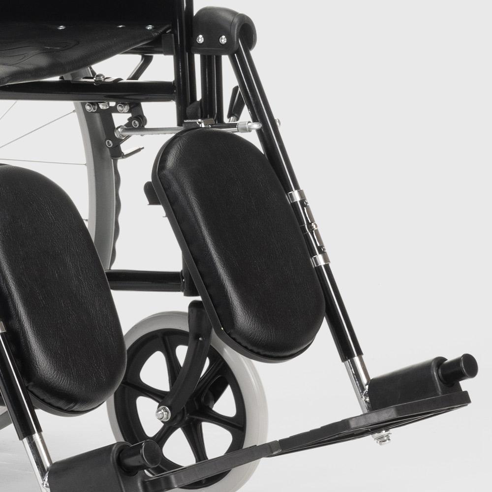 miniatura 40 - Sedia a Rotelle carrozzina con supporto alza gambe pieghevole disabili e anziani