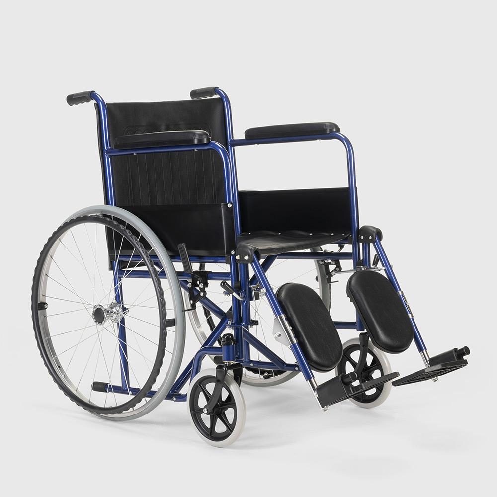 miniatura 25 - Sedia a Rotelle carrozzina con supporto alza gambe pieghevole disabili e anziani