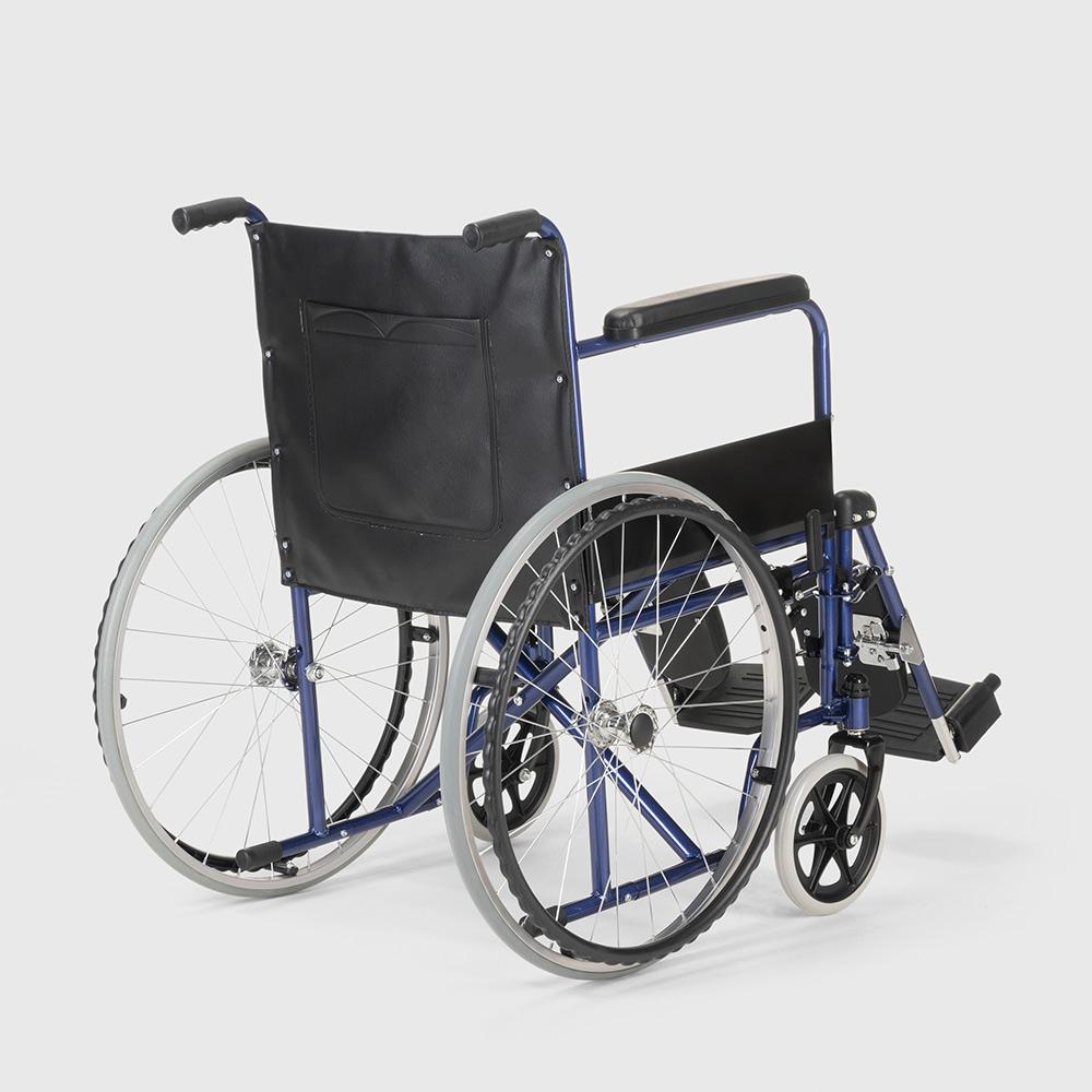 miniatura 26 - Sedia a Rotelle carrozzina con supporto alza gambe pieghevole disabili e anziani