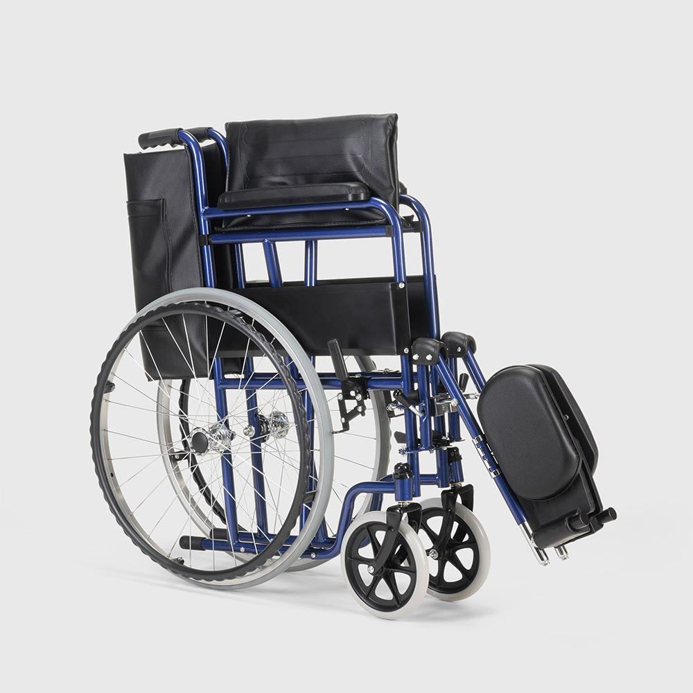 miniatura 27 - Sedia a Rotelle carrozzina con supporto alza gambe pieghevole disabili e anziani