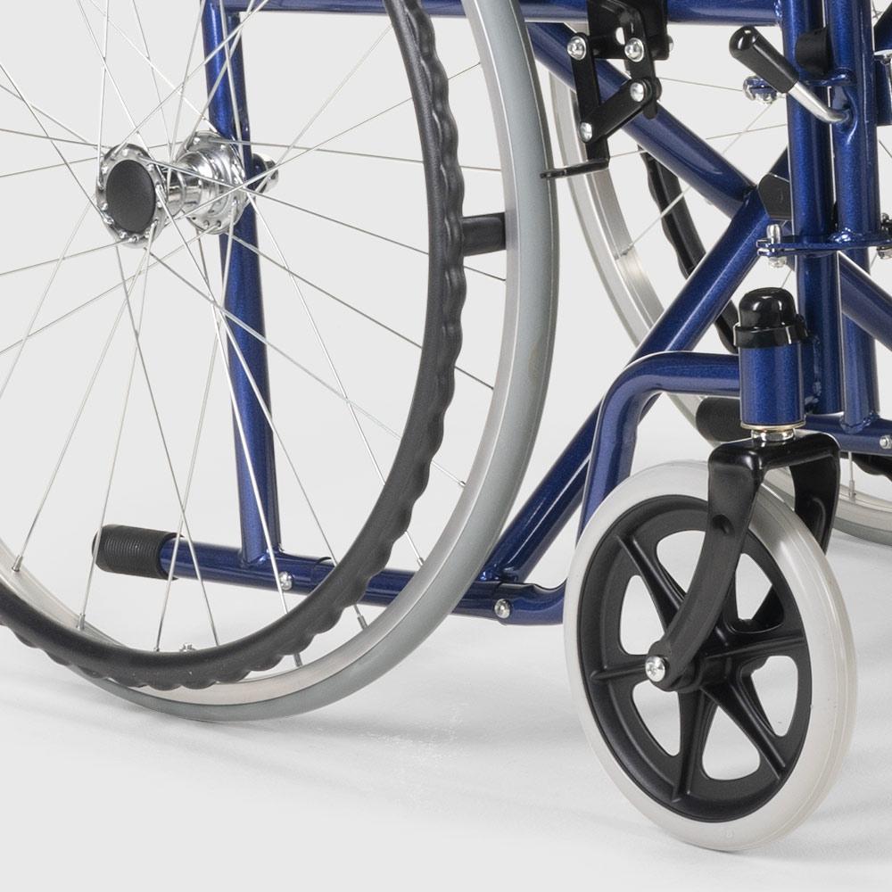 miniatura 29 - Sedia a Rotelle carrozzina con supporto alza gambe pieghevole disabili e anziani