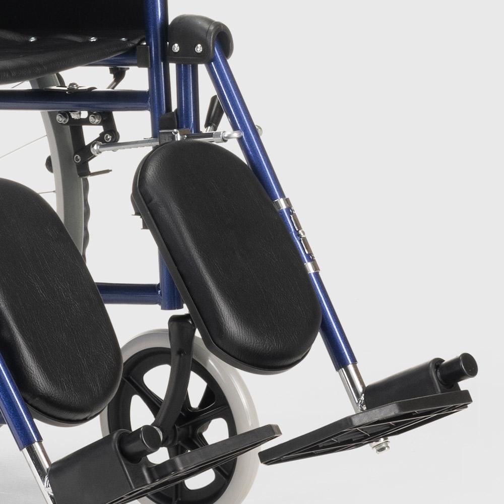 miniatura 30 - Sedia a Rotelle carrozzina con supporto alza gambe pieghevole disabili e anziani