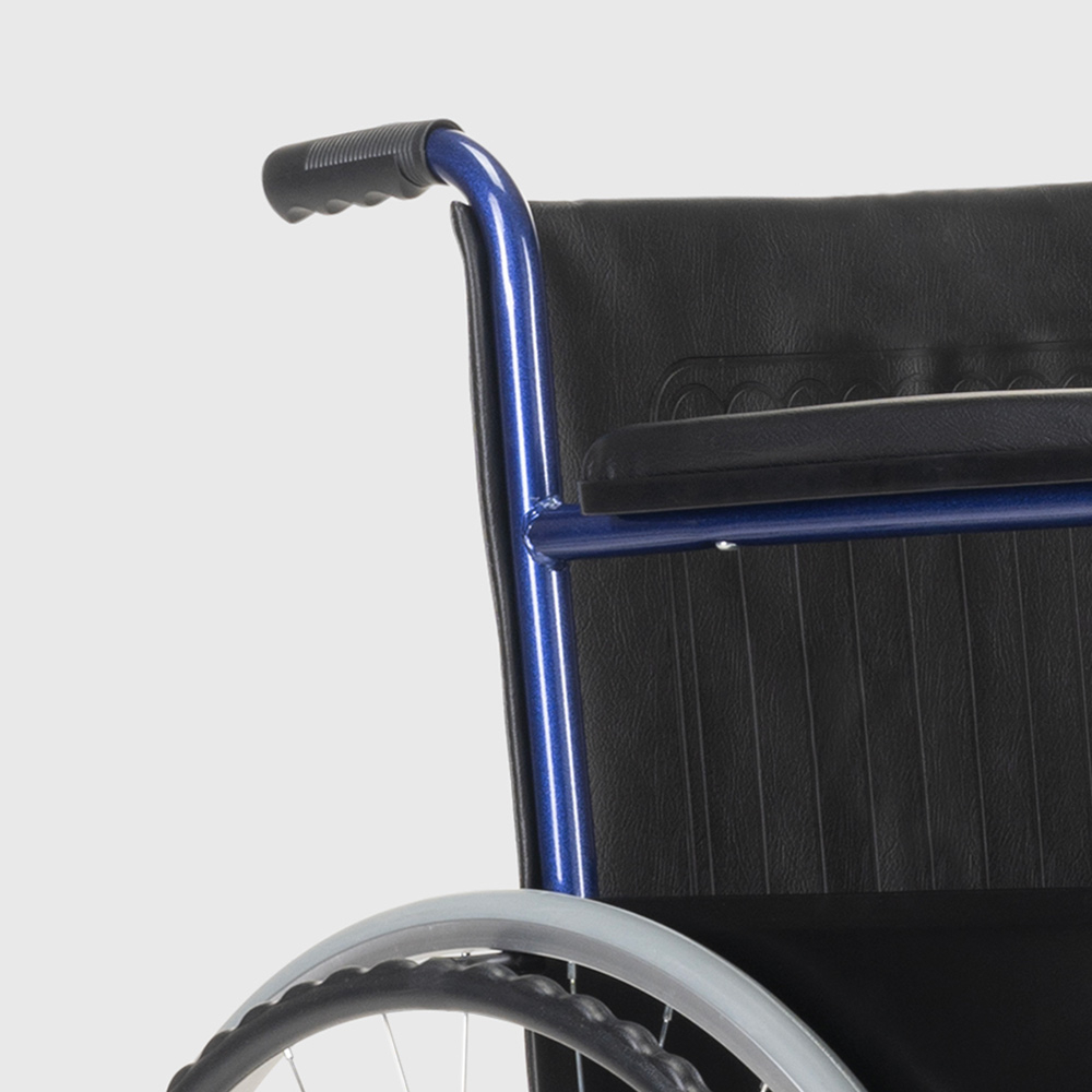 miniatura 28 - Sedia a Rotelle carrozzina con supporto alza gambe pieghevole disabili e anziani