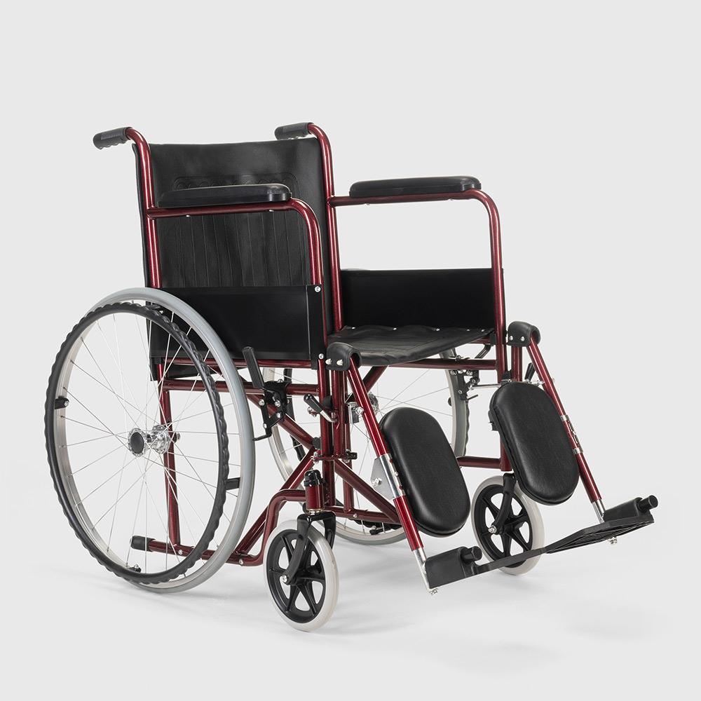 miniatura 15 - Sedia a Rotelle carrozzina con supporto alza gambe pieghevole disabili e anziani