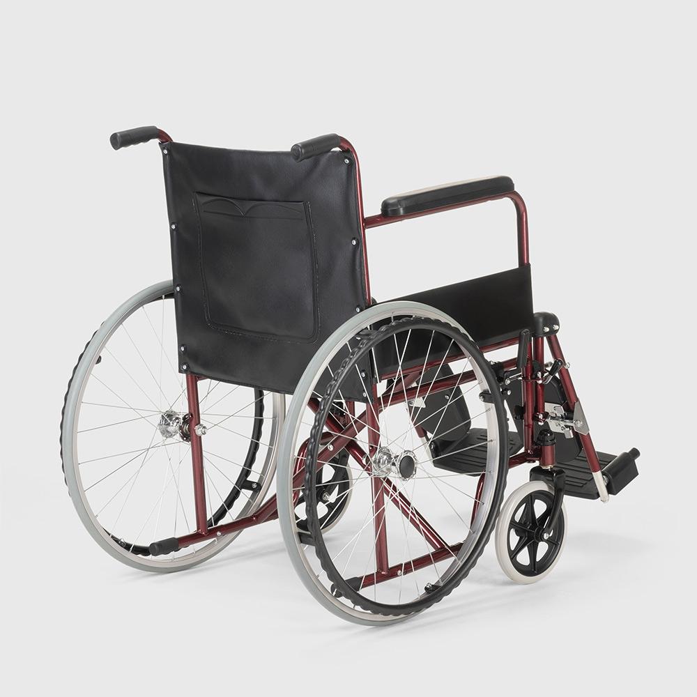 miniatura 16 - Sedia a Rotelle carrozzina con supporto alza gambe pieghevole disabili e anziani