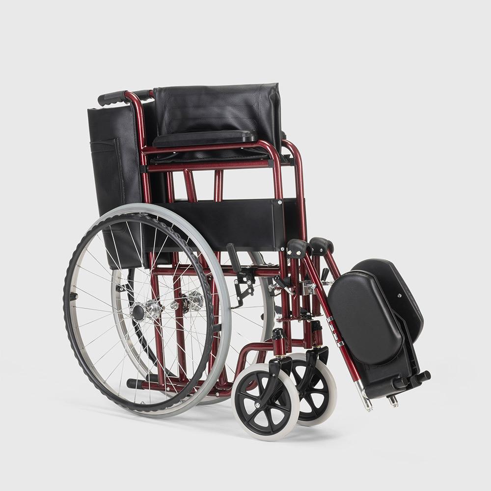 miniatura 17 - Sedia a Rotelle carrozzina con supporto alza gambe pieghevole disabili e anziani