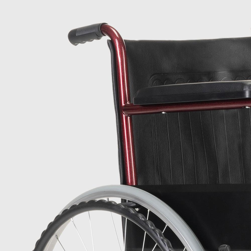 miniatura 18 - Sedia a Rotelle carrozzina con supporto alza gambe pieghevole disabili e anziani