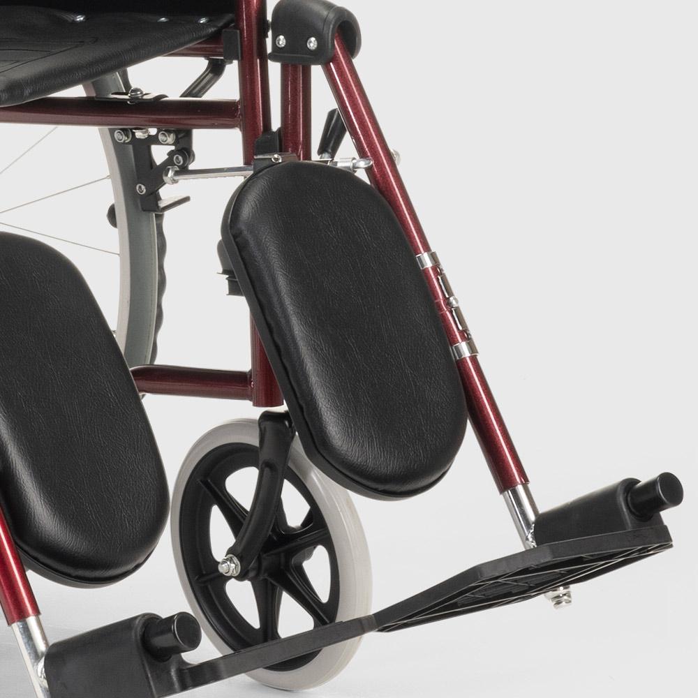 miniatura 20 - Sedia a Rotelle carrozzina con supporto alza gambe pieghevole disabili e anziani