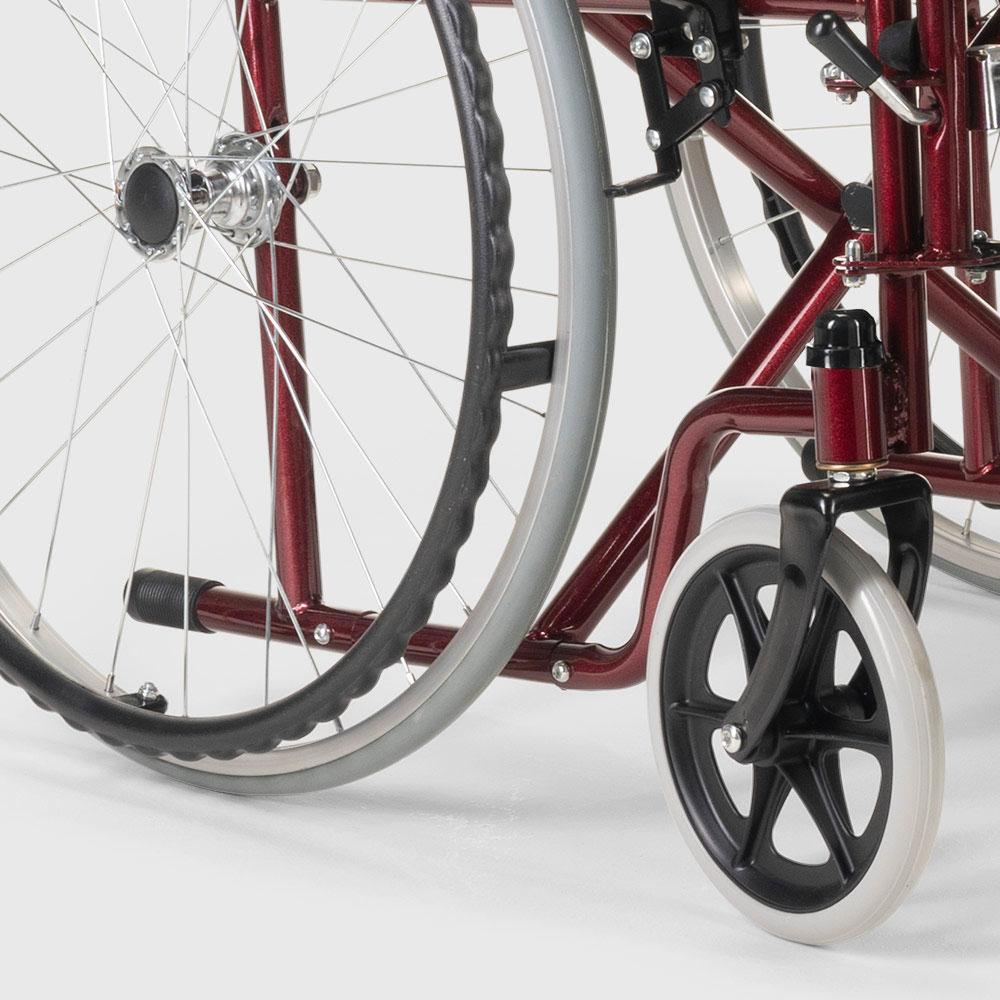 miniatura 19 - Sedia a Rotelle carrozzina con supporto alza gambe pieghevole disabili e anziani