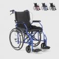 Sedia a rotelle carrozzina pieghevole in tessuto con freni disabili e anziani Dasy